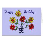 CF- Cheerful Daisy Birthday Card