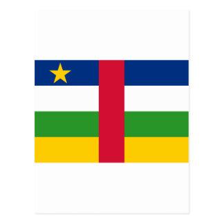 CF de la bandera de la República Centroafricana Tarjeta Postal
