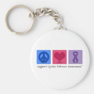 CF del amor de la paz Llaveros