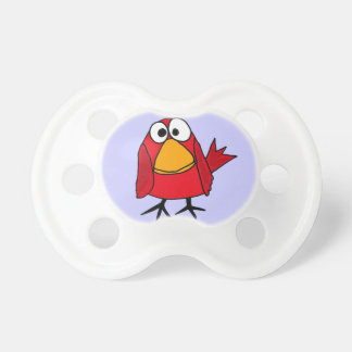 CF- Funny Red Bird Cardinal Baby Pacifier