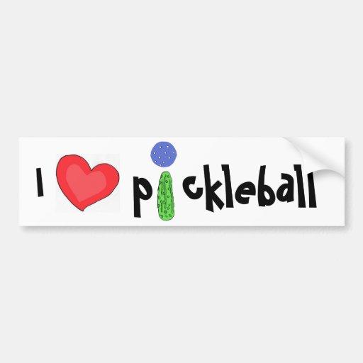 CF- I love pickleball bumper sticker