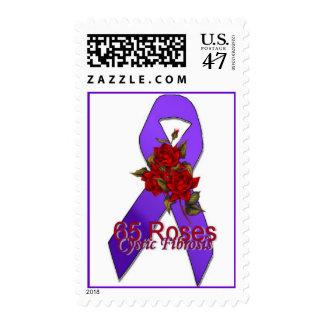 cf stamp 65 roses purple ribbon