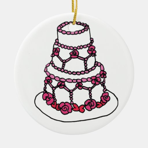wedding cake christmas ornament cf wedding cake ornament zazzle 8593