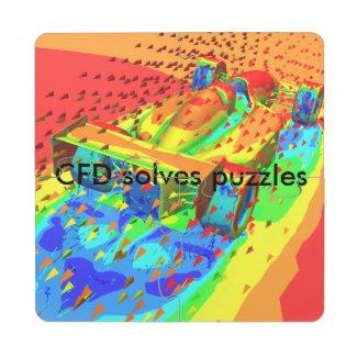 CFD Racecar Puzzle Coaster