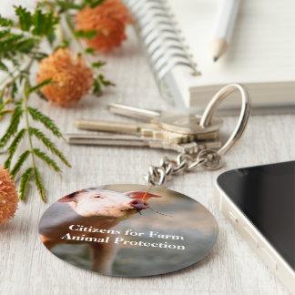 CFFAP Piggy Pin Basic Round Button Keychain