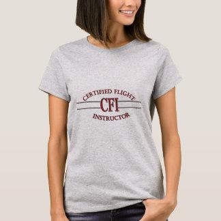 CFI LOGO RED CERTIFIED FLIGHT INSTRUCTOR T-Shirt