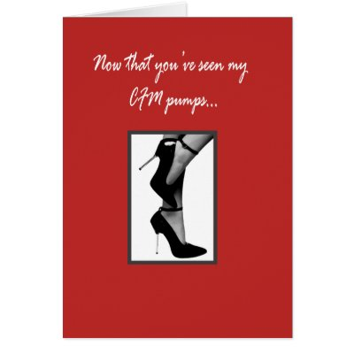 CFM Pumps Greeting Card by chocolateandpearls. Simply Erotic Greeting Card
