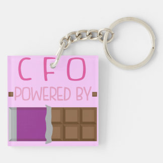 CFO Chocolate Gift for Woman Keychain