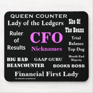 CFO femenino apoda nombres tontos groseros diverti Alfombrilla De Ratones