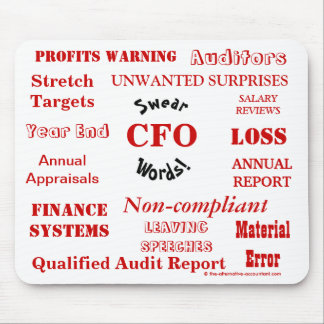 CFO juran las palabras - CFO grosero Mousepad
