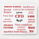 CFO juran las palabras - CFO grosero Mousepad Alfombrilla De Raton