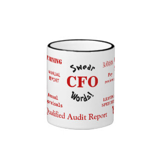 ¡CFO juran palabras! - Taza grosera de CFO