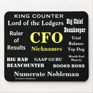 CFO Nicknames Funny Rude Silly CFO Mousepad