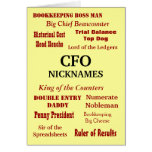 CFO NICKNAMES - Rude Birthday Card