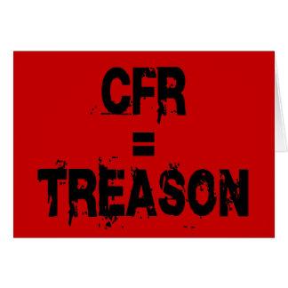 CFR = Treason Card