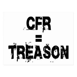 CFR = Treason Postcard