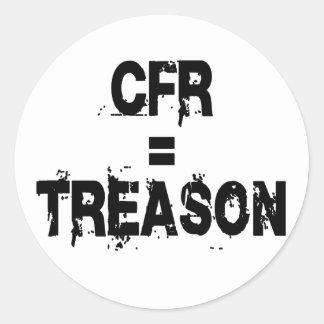 CFR = Treason Sticker