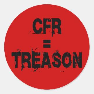 CFR = Treason Round Sticker