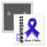 CFS Awareness 5 Chronic Fatigue Syndrome Pin