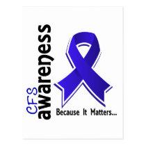 CFS Awareness 5 Chronic Fatigue Syndrome Postcard