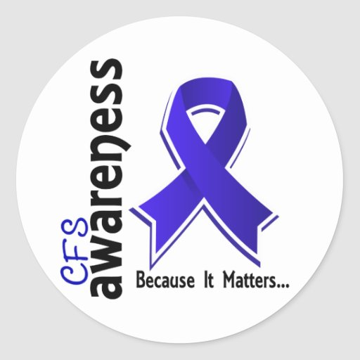 CFS Awareness 5 Chronic Fatigue Syndrome Classic Round Sticker