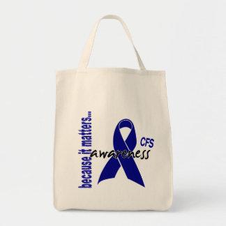 CFS Chronic Fatigue Syndrome Awareness Tote Bag