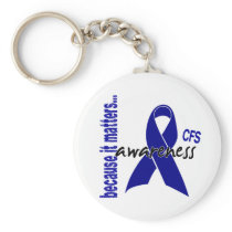 CFS Chronic Fatigue Syndrome Awareness Keychain