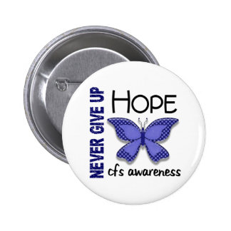 CFS Chronic Fatigue Syndrome Butterfly 2 Inch Round Button