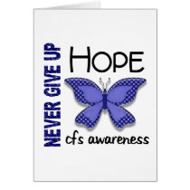 CFS Chronic Fatigue Syndrome Butterfly Card
