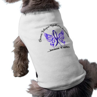 CFS Chronic Fatigue Syndrome Butterfly Doggie T Shirt