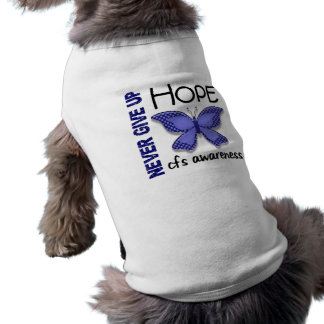 CFS Chronic Fatigue Syndrome Butterfly Dog Shirt