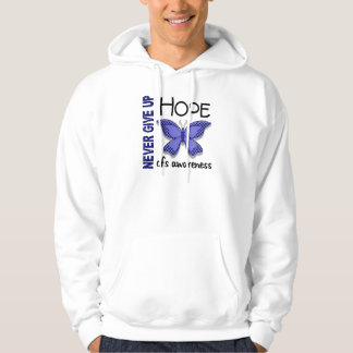 CFS Chronic Fatigue Syndrome Butterfly Hooded Sweatshirt