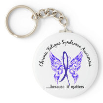 CFS Chronic Fatigue Syndrome Butterfly Keychain