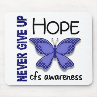 CFS Chronic Fatigue Syndrome Butterfly Mouse Pad