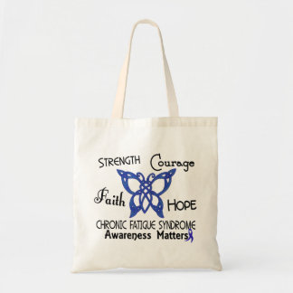 CFS Chronic Fatigue Syndrome Celtic Butterfly Canvas Bags