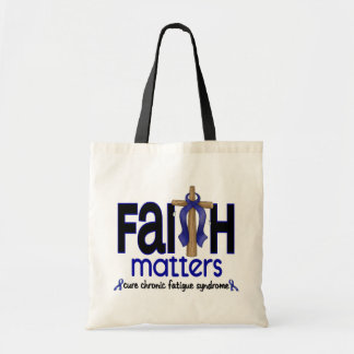 CFS Chronic Fatigue Syndrome Faith Matters Tote Bags