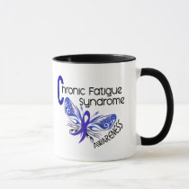 CFS Chronic Fatigue Syndrome Tattoo Butterfly Mug