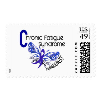 CFS Chronic Fatigue Syndrome Tattoo Butterfly Postage Stamp