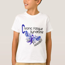 CFS Chronic Fatigue Syndrome Tattoo Butterfly T-Shirt