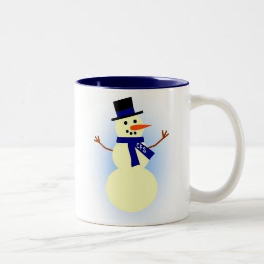 CFS snowman mug
