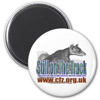 CFZ on the track thylacine 2 Inch Round Magnet