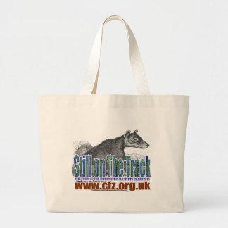 CFZ on the track thylacine Jumbo Tote Bag