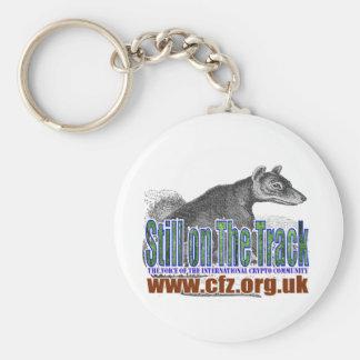 CFZ on the track thylacine Basic Round Button Keychain