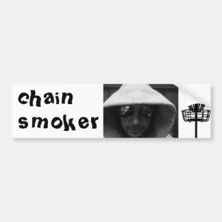 CG Chain Smoker Bumper Sticker Car Bumper Sticker