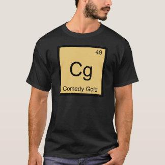 Cg - Comedy Gold Chemistry Element Symbol T-Shirt