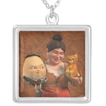 Cg Group Silver Plated Necklace by pussinboots at Zazzle