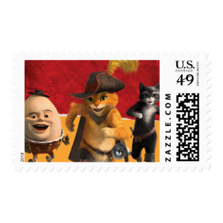 CG Puss Humpty Kitty Postage Stamps