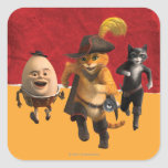 CG Puss Humpty Kitty Square Sticker