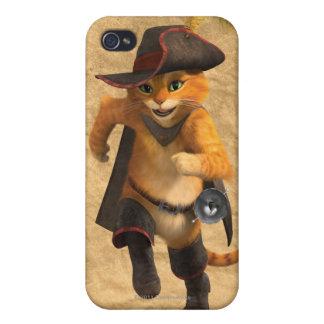 CG Puss Runs iPhone 4 Cover