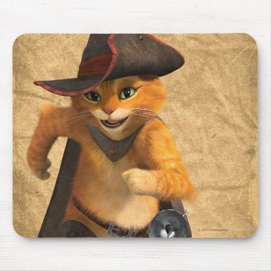 CG Puss Runs Mouse Pad